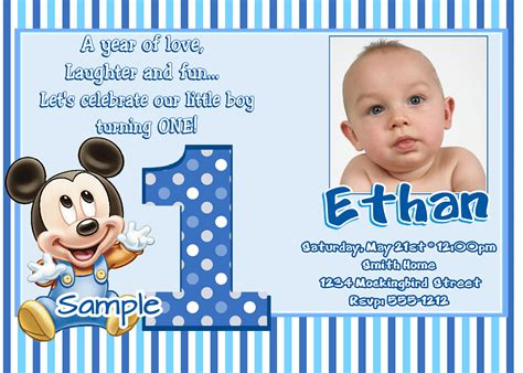 free 1st birthday invitation maker invitation sle - Free Templates For 1st Birthday Invitations