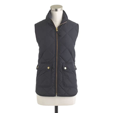 Navy Blue Quilted Vest by J Crew Excursion Quilted Vest In Blue Navy Lyst
