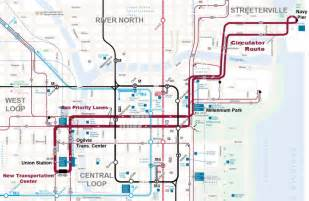 Chicago Truck Routes Map by Chicago Commits To Downtown Bus Priority 171 The Transport