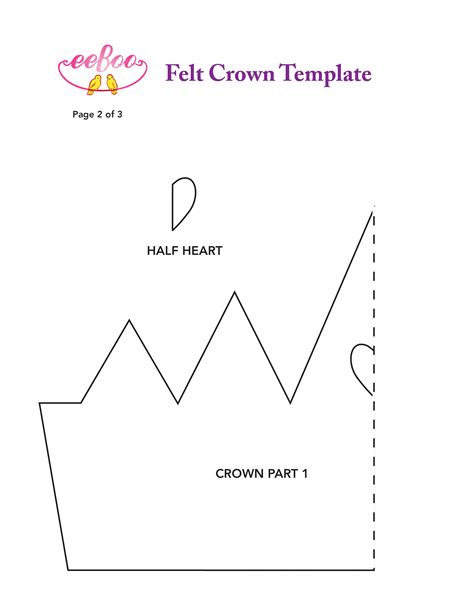 queen of hearts crown pattern