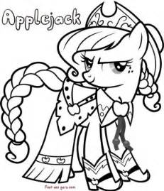 applejack my little pony friendship is magic coloring in