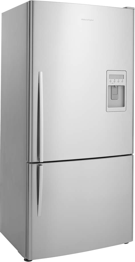 French Door Refrigerator With Dual Ice Makers - fisher amp paykel e522brxu 17 6 cu ft counter depth bottom freezer refrigerator with active