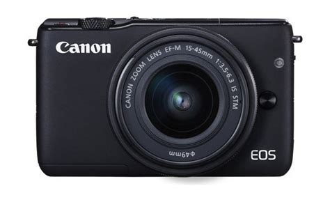 Canon Eos M10 Mirrorless Digital With 15 45mm Lens canon eos m10 18mp wireless mirrorless digital with 15 45mm is stm lens black xcite