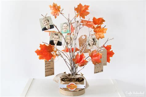 craft tree decorations thankful tree diy family themed decor for fall