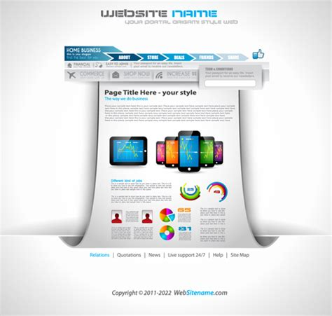 Modern Business Website Template Vector Vector Business Vector Web Design Free Download Modern Business Website Templates