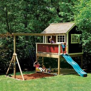 compact backyard playset the design we d do one more rustic than this tho