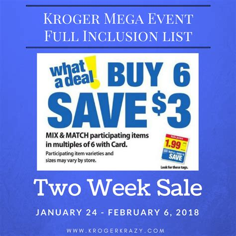 here it is kroger s full inclusions list for their buy 6 kroger buy mega event full inclusion list chicken nugget