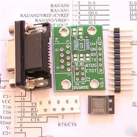 Kit Rs232 Converter Serial To Ttl Chip R Kode Fd10477 rs232 serial uart to ttl converter adapter kit pic mcu
