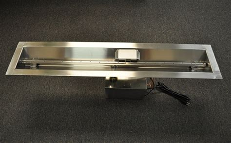 Gas Fireplace Burner Kit by Hearth Products Controls 60 Inch Stainless Steel Linear