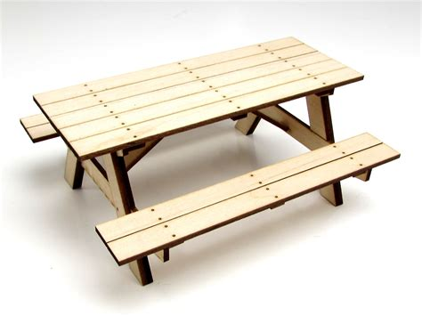 Wood Picnic Table Kit gear rc 1 10 scale wood picnic table kit