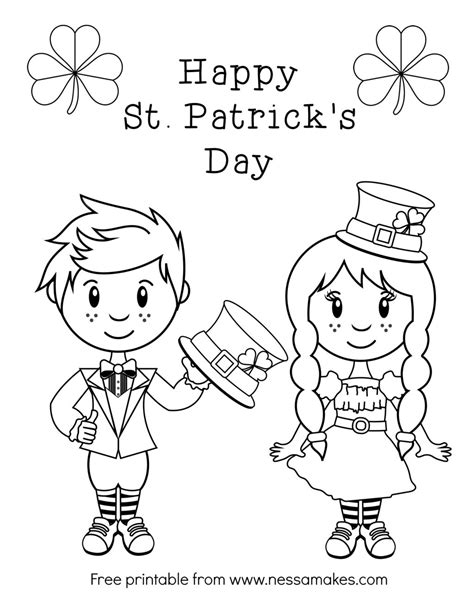 irish girl coloring page adult st patrick day coloring pages st patrick s day