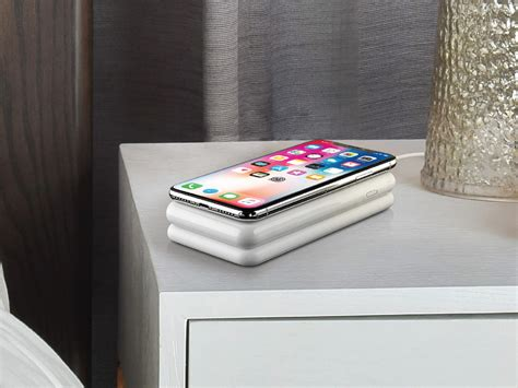 wireless charging bedside table avido s wiba wireless charging power bank lets you