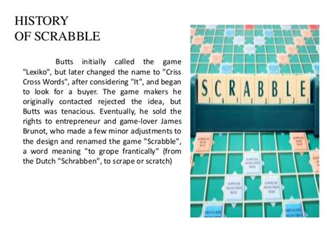 official of scrabble scrabble