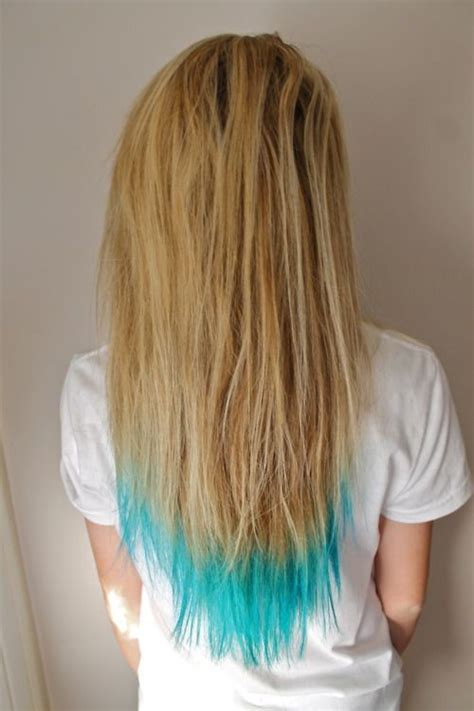 shirt haurcuts with diwd tips short blonde hair with blue tips pictures to pin on