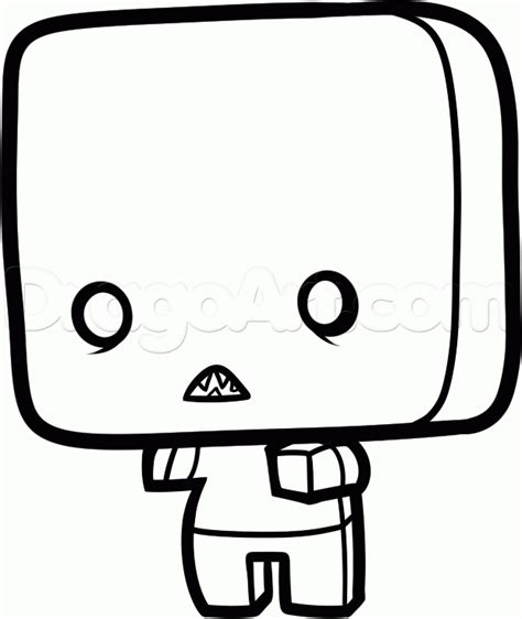 Chibi Minecraft Coloring Pages | how to draw a chibi minecraft zombie step by step chibis