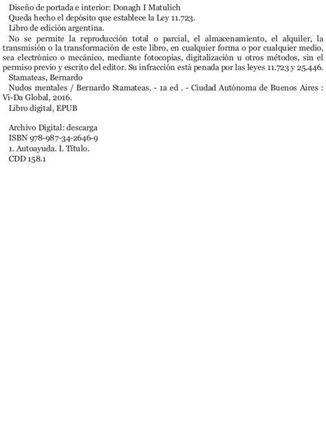 libro pdf nudos mentales bernardo stamateas nudos mentales