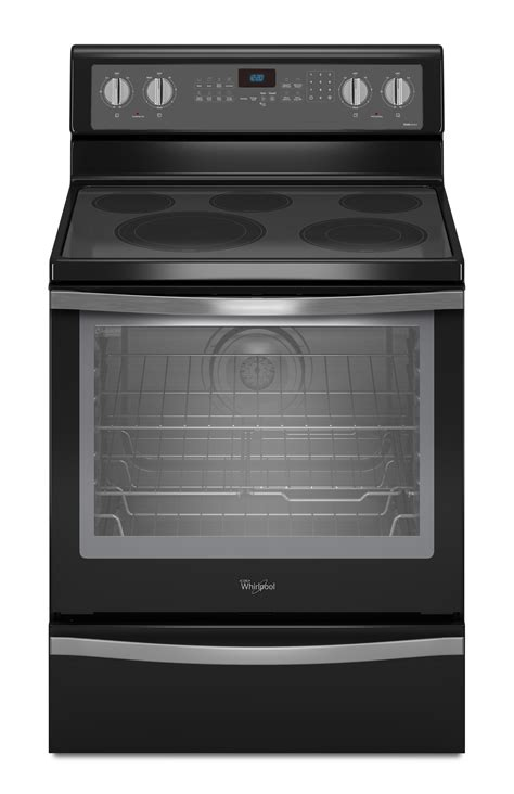 whirlpool black ice whirlpool wfe715h0ee 6 4 cu ft freestanding electric