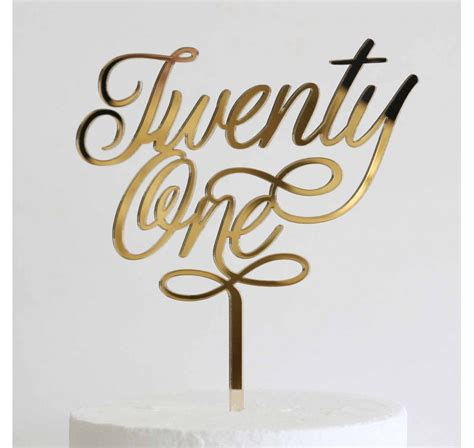 Acrylic Topper For Cake quot twenty one quot acrylic cake topper lollipop cake supplies