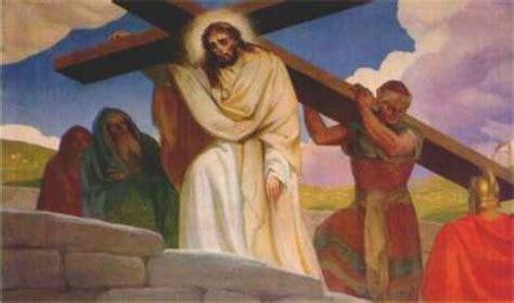aiuto gesu a portare la croce via crucis