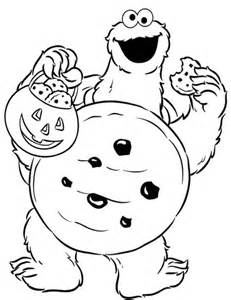 cookie monster halloween coloring nom nom nom halloween coloring pages