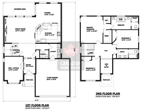 3bedroom Floor Plan by House Plans Canada Stock Custom
