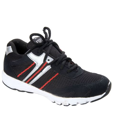 black leather sports shoes cns black synthetic leather sport shoes price in india