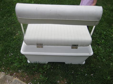 cooler seat for boat boat swingback cooler seat the hull boating and