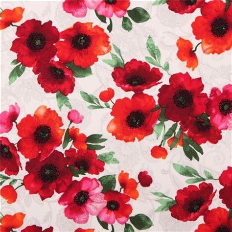 pattern for fabric poppy cream poppy flower timeless treasures fabric ava poppies
