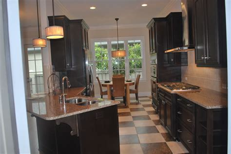 black galley kitchen wooden tiles flooring style seamless carpet tiles