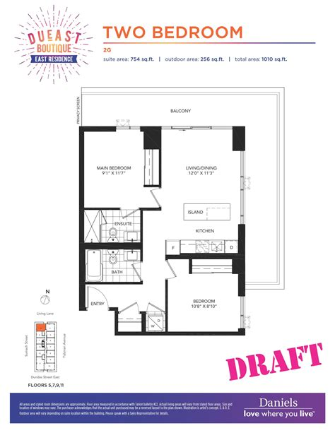 daniels high park floor plans dueast boutique condos regent park life
