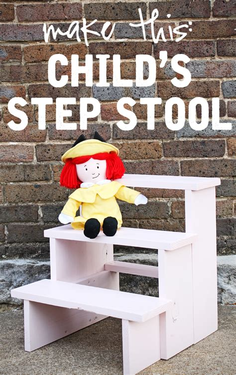 Diy Child Step Stool by Diy Child S Step Stool