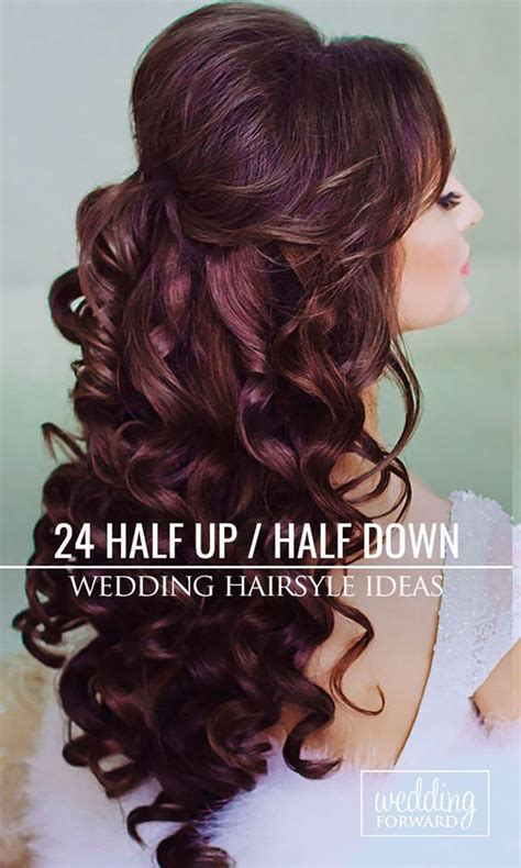elegant hairstyles bump 24 stunning half up half down wedding hairstyles