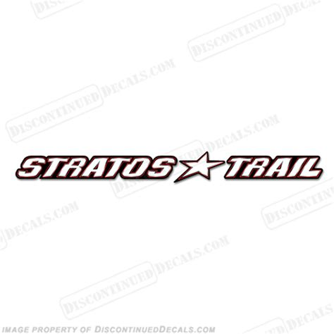 stratos boats logo stratos trail logo decal 24 quot