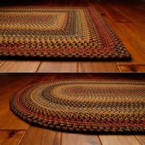 four rugs budapest wool braided oval rug