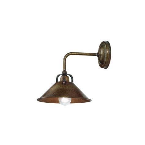 pavia wall light with l arm in brass christophe living