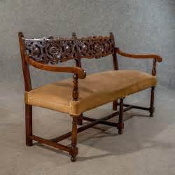 settee loveseat bench antique oak settee sofa upholstered bench antiques atlas