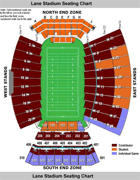 tech football seating map techsideline stadium seating chart