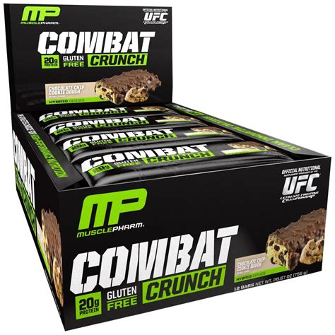 Musclepharm Combat Crunch Bar 12 Buah pharm combat crunch chocolate chip cookie dough