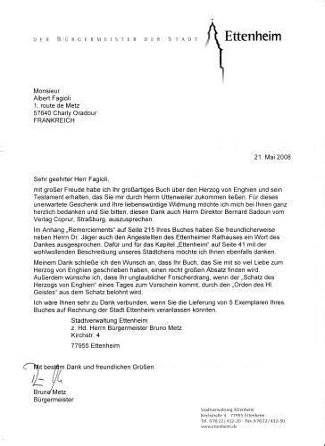 Exemple De Lettre De Départ Remerciement la lettre de remerciement de la part de monsieur le maire