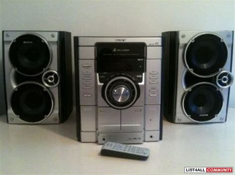 sony stereo sytem 2 decent size speakers loud stereo