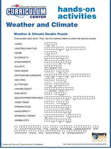 Weather Vs Climate Worksheet by 6th Grade Weather And Climate Worksheets Word Puzzles