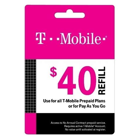 T Mobile Gift Card Balance - t mobile 40 prepaid refill card multi t mobile 2015 40 best buy