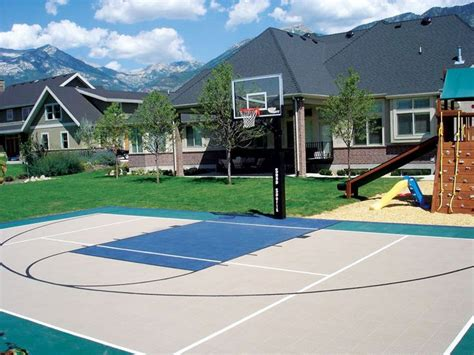 1000 ideas about backyard basketball court on
