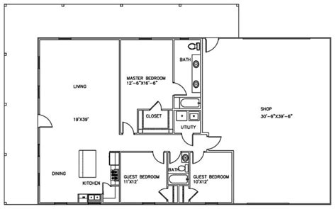 metal building floor plans with living quarters complete guide build a comfortable shop with living quarters
