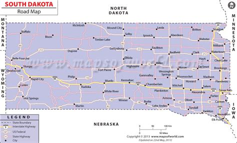 printable south dakota road map south dakota road map http www mapsofworld com pinterest