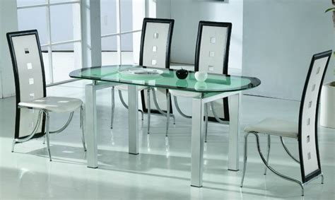 Modern Glass Dining Room Tables by All Glass Dining Room Table Marceladick