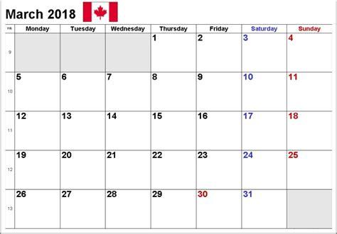 printable calendar canada 2018 march 2018 printable calendar calendar 2018