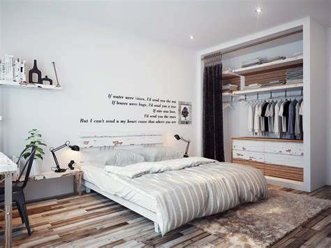 bedroom wall quote interior design ideas