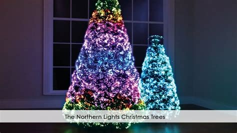 the northern lights christmas trees youtube