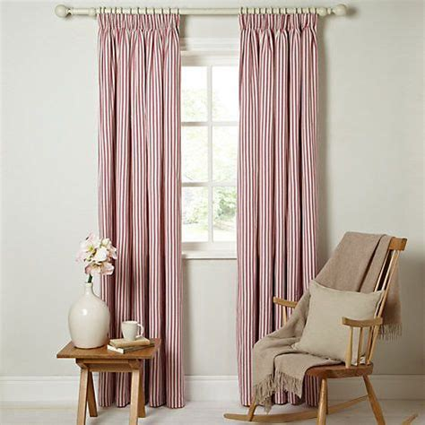 red white striped curtains ticking curtains striped pencil headed red white